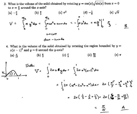 Calculus Example Problems With Solutions