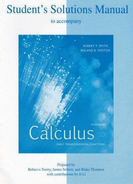 Calculus Smith Minton Solution Manual