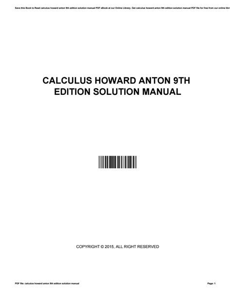 Calculus With Applications 9th Edition Solutions Manual