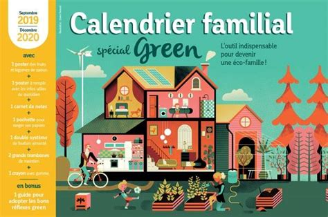 Calendrier Familial 2019 2020 Special Green