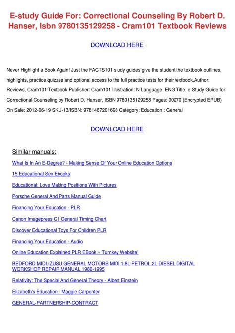 California Correctional Counselor Study Guide