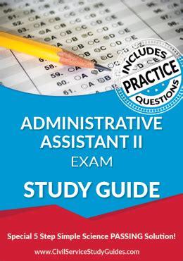 California Study Guide For Admin Assistant Exam
