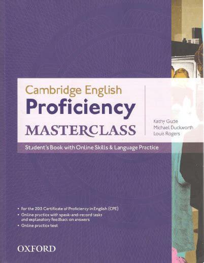 Cambridge English Proficiency Masterclass Answer Key