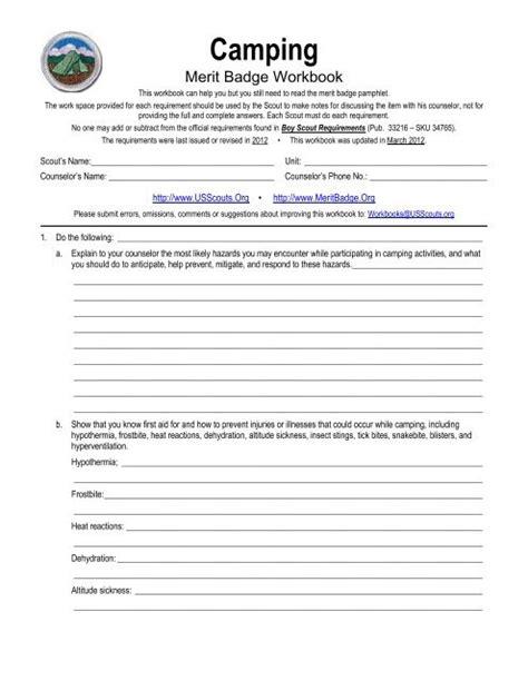 Camping Merit Badge Answers