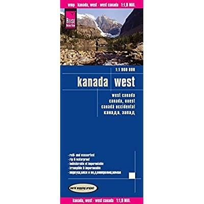 Canada Oeste Mapa Impermeable De Carreteras Escala 1 1 900 000 Impermeable Reise Know How