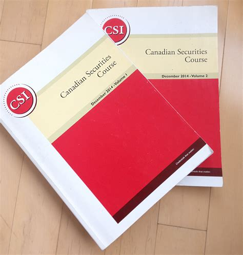 Canadian Securities Course Guide