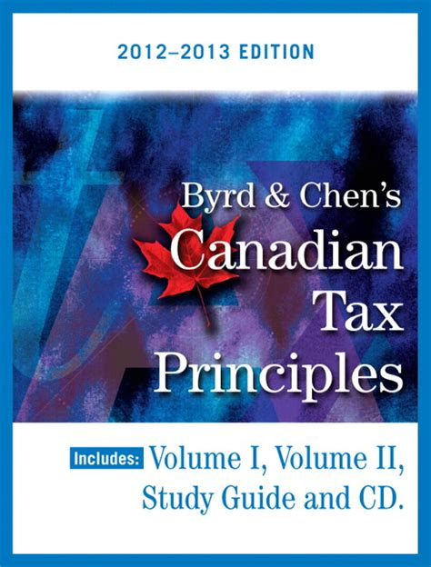 Canadian Tax Principles 2013 Study Guide