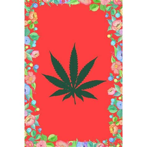 Cannabis Leaf Journal Notebook Blank Lined Ruled For Writing 6x9 120 Pages