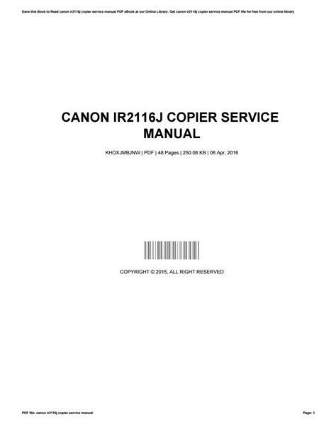 Canon Copiers Manuals