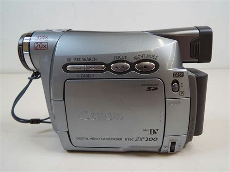 Canon Digital Video Camcorder Ntsc Zr200 Manual
