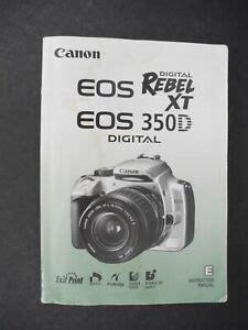 Canon Eos Digital Rebel Xt Instruction Manual