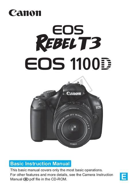 Canon Eos Rebel T3 1100d Instruction Manual