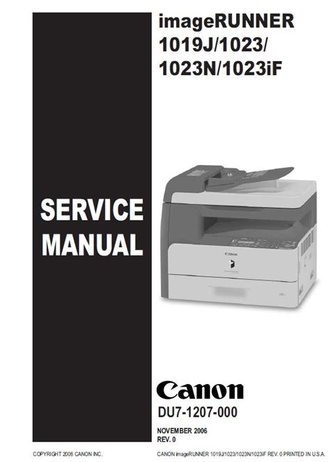 Canon Imagerunner 1023if Service Manual