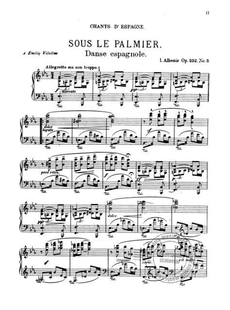 Cantos De Espana Op 232 Piano Solo