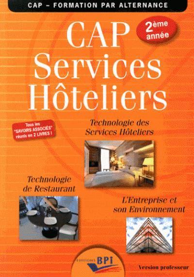 Cap Services Hoteliers 2eme Annee Professeur