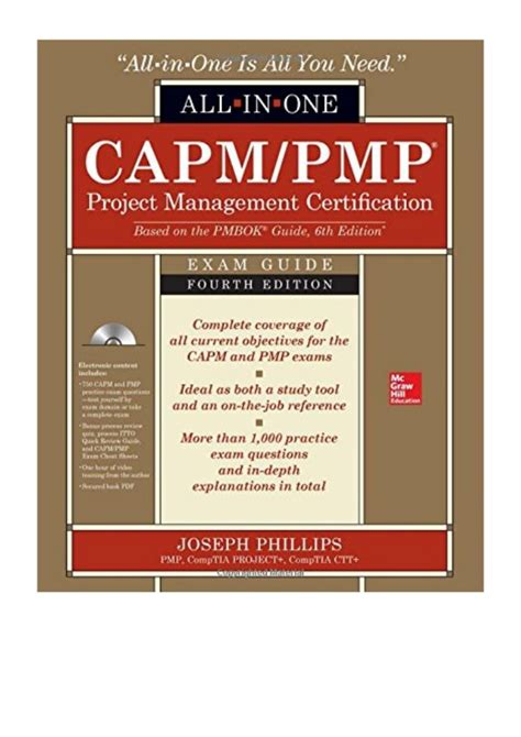 Capm Pmp Project Management Certifcation All In One Exam Gui