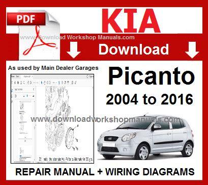 Car Workshop Manuals For Kia Picanto