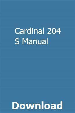 Cardinal 204 Manual