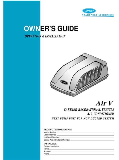 Carrier Air V Manual