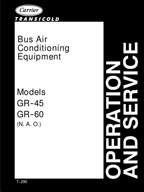 Carrier Bus Air Conditioner Manuals