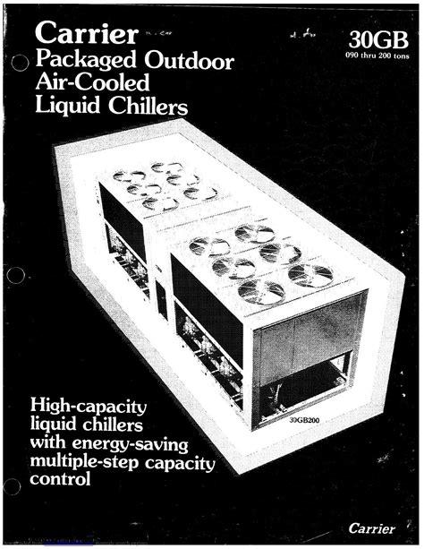 Carrier Chiller Manual
