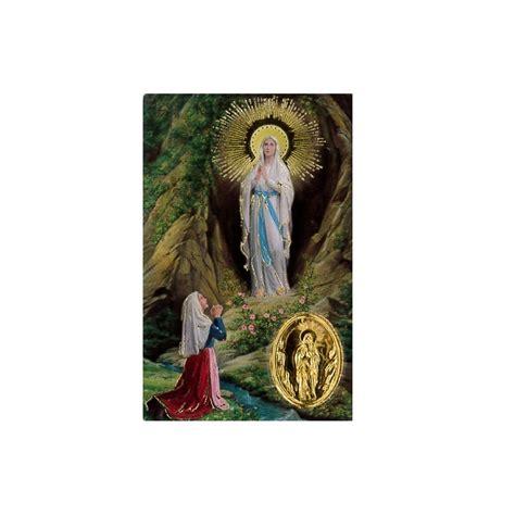 Carte Avec Priere Plastifiee De Notre Dame De Lourdes