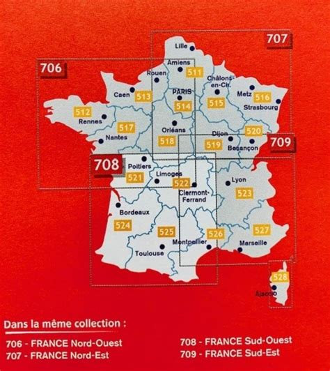 Carte France Sud-Ouest Michelin 2018