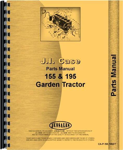 Case 195 Lawn Garden Tractor Parts Manual