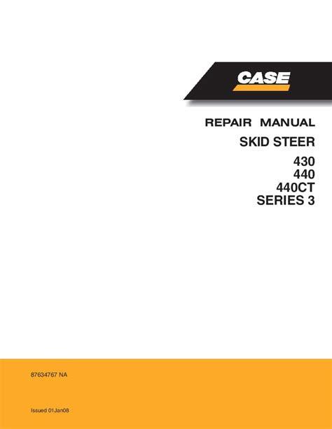 Case 440 Skid Steer Service Manual