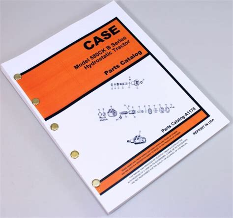 Case 580b With Hydrostatic Drive Tractor Parts Manual Catalog Improved