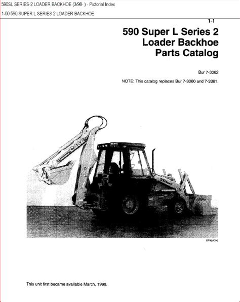 Case 590 Super M Backhoe Loader Parts Catalog Manual