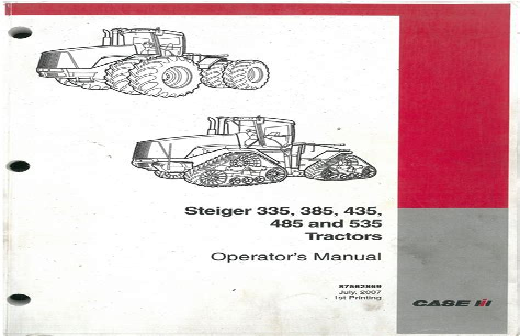 Case Ih Steiger Operator Manual