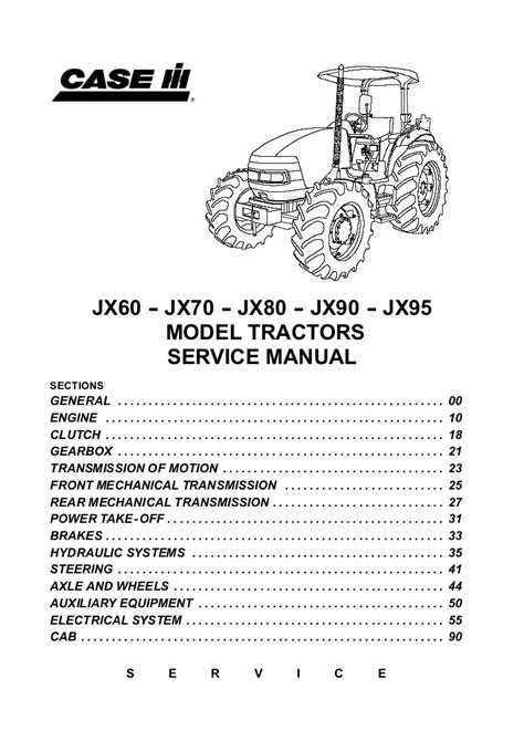 Case Tractor Jx60 Service Manual