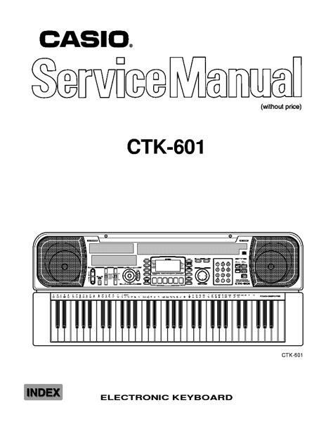 Casio At 1 Electronic Keyboard Repair Manual