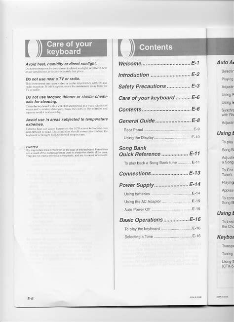 Casio Ctk 533 Manual