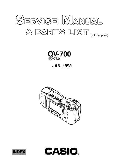 Casio Qv 700 Service Manual Parts List