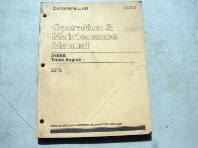 Cat 3406b Truck Engine Manual
