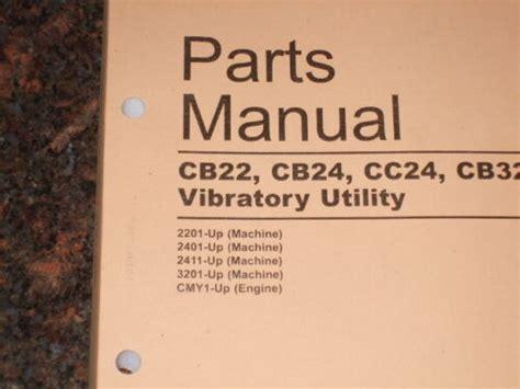Cat Caterpillar Cb22 Cb24 Cc24 Cc32 Compactor Parts Manual S N 2201 2401 3201 Up