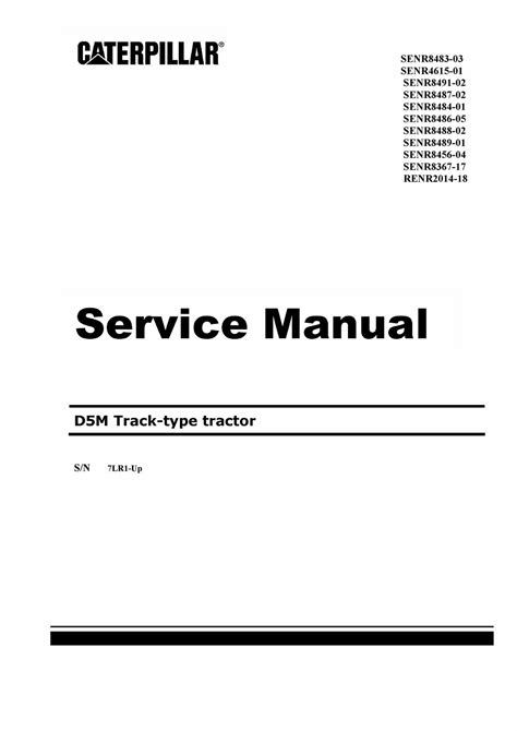 Cat D5mxl Service Manual
