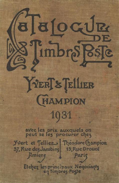 Catalogue de timbres poste 1931
