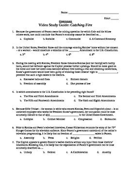 Catching Fire Study Guide Questions