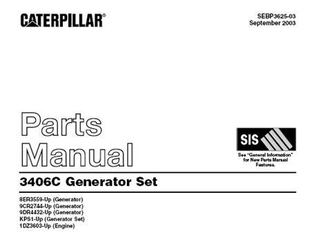 Caterpillar 3406c Generator Service Manual