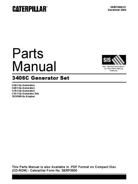 Caterpillar 3406t Service Manual