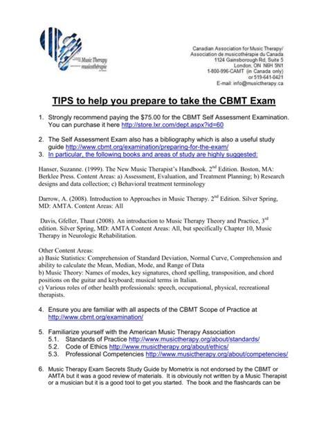 Cbmt Study Guide