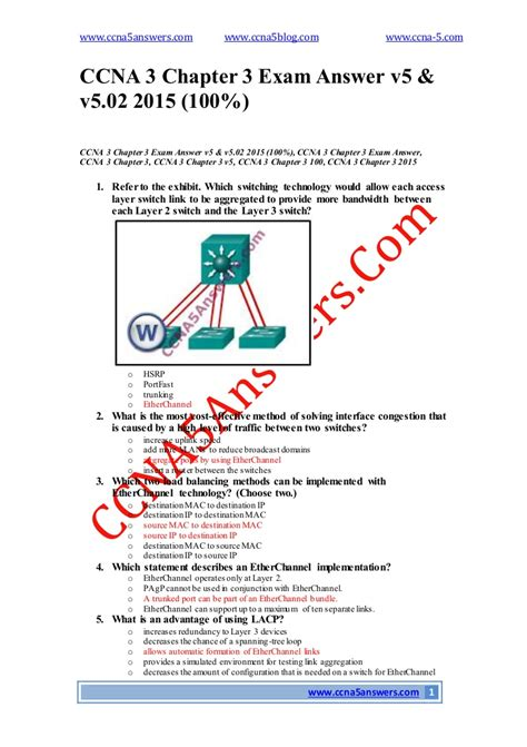 Ccna 3 Chapter Test Answers