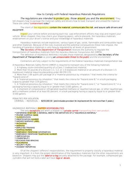 Cdl Hazmat Study Guide 2013