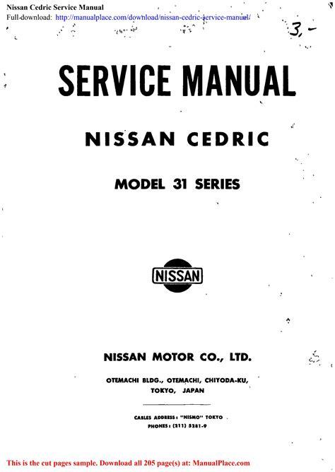 Cedric Y33 Service Manual