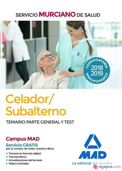 Celador Subalterno Personal De Servicios Servicio Murciano De Salud Test Del Temario 2