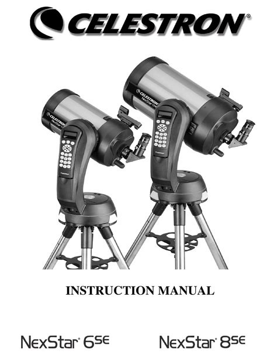 Celestron Nexstar Instruction Manual