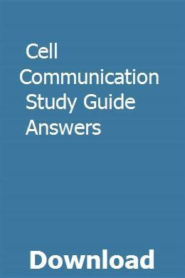 Cell Communication Study Guide